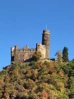 A castle on the middle Rhine sailing.