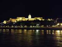 Cruising into Budapest at night