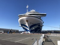Docked at Ogden Point, Victoria, BC, newly painted sea witch.