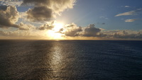 Sunset off the coast of Grand Turk, taken from the ship.