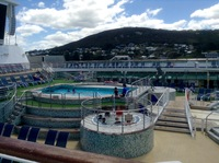 This is the upper deck 12 with the pool and spa