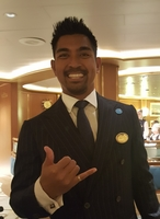 Cruise Director Marcus, very positive and visible, and he is very approacha
