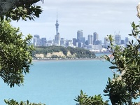 View of Auckland from Michael Savage Park.  Park had lovely memorial and be