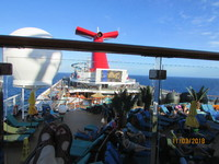 looking over the Lido deck