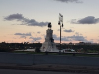 Some monument in Cuba.  It's about all we got before darkness fell.