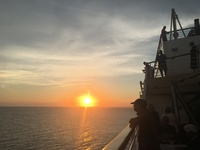 Sunsets onboard the Norwegian Sun.