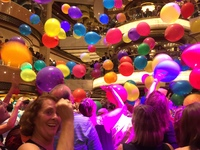 Balloon drop party