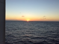 Photo from our cabin, on cruise,,looking out to sea,