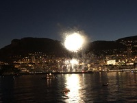 Fireworks over Monte Carlo, our last night.