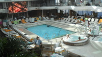 Koningsdam's interior Lido Pool on a TransAtlantic crossing
