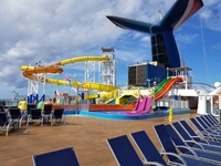 Water park on ship. Kids had a great time