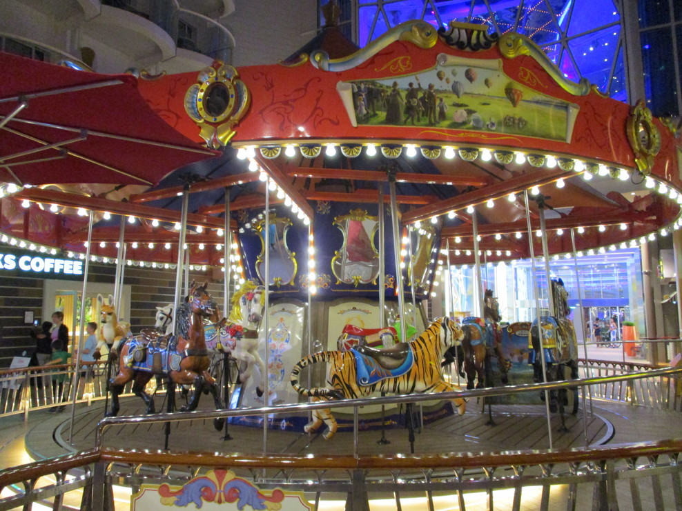 This is the full sized Carousel on the Boardwalk.