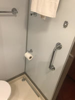 Broken towel rack that was left there by housekeeping.