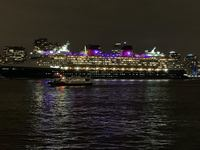 Photo of the Disney Magic leaving New York on the Hudson River