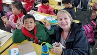 Primary school visit in Jingzhou