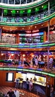 Colorful main atrium on the Carnival Ecstasy.