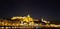Budapest lit up for embarkation.