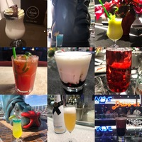 Some of the photogenic drinks I tried across all 17 bars/lounges