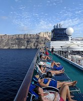 Photo 2: Horizon Deck 12 sailing away from Santorini