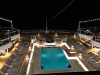 Sea View pool at night.