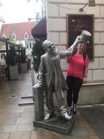Hanging with the city greeter in Bratislavia, Slovakia!