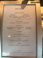 Great example.  This is the Patio menu.  They mark what is vegetarian - tha