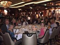 Group dinner - second night at sea