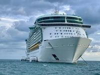 Liberty of the Seas, taken from the tender boat coming back from Belize.