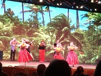 Hawaiian show on ship in Honolulu