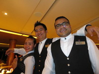 Our excellent waiting team - Preceni, Xavier and Sijay - posing as usual! .
