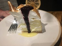 Jamie's Italian - Lemon Cheese Cake with Meringue