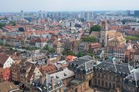 View from the top of Strasbourg Cathedral. It is 330 steps up, but worth th