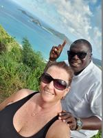 Myself and our fabulous tour guide in Tortola, Kelly