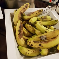 Breakfast bananas.