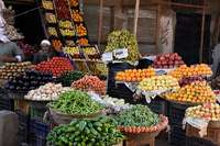 Stall in vegetable market