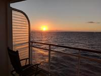 Sunset from balcony leaving Cozumel