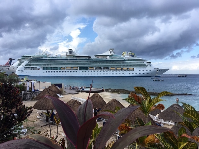 Brilliance of the Seas seen from Cozumel