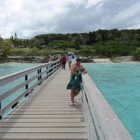 At Lifou for a refreshing swim.