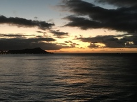 Sunrise over Diamond Head in Honolulu