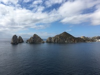 Arriving at Cabo San Lucas