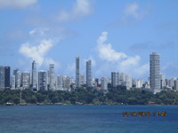 Salvador da Bahia skyline from ship