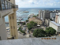 View of Lacerda elevator and Mercado Central from top level of Salvador da