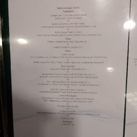 Sample dinner menu