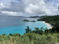 Snorkeling and swimming at Trunk Bay, St John's Island