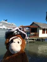 Behind Pirate Monkey is an Ocean Cabana and the Carnival Magic