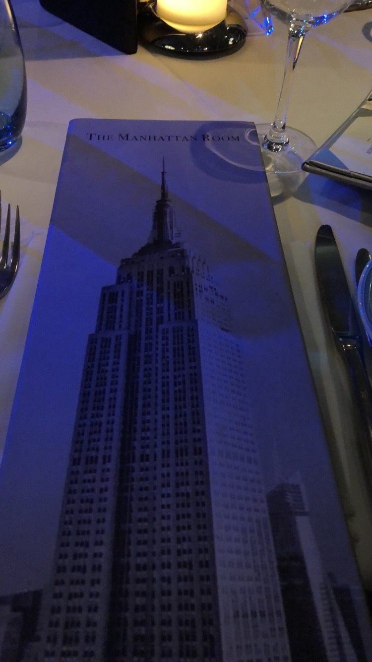 Menu of Manhattan Room