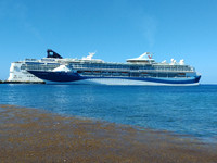 A photo of Marella Discovery 2 taken from ashore in Cozumel, Mexico