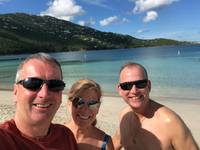 Fun beach time in St. Thomas