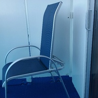 Balcony chair on Island Princess are adjustible, a rarity for balcony chair