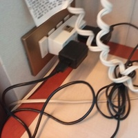 Only two small electrical outlets in balcony stateroom. Hard to plug two it